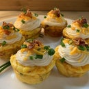 3Cheese'NBacon Breakfast Cupcakes