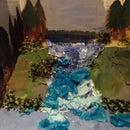 Cardboard Waterfall Diorama