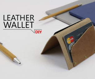 DIY - Leather Wallet in 5 minutes