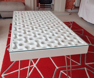 Solid surface coffee table
