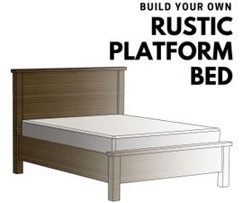Make This Easy to Build Rustic Platform Bed