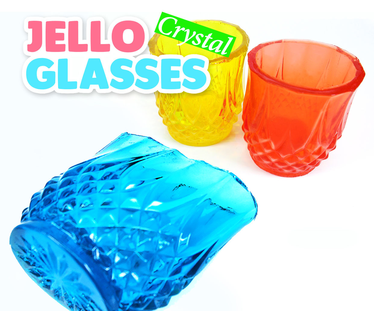 DIY How To Make Crystal Jello Glasses! Jewelry Gummy Cups Recipe