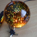 Color changing glowing crystal ball