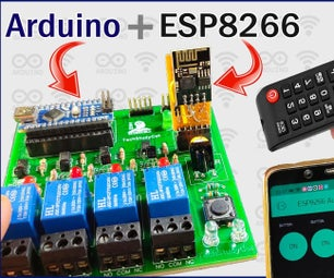 Arduino ESP8266 Control Relay Module With Blynk & IR Remote | Real-Time Feedback