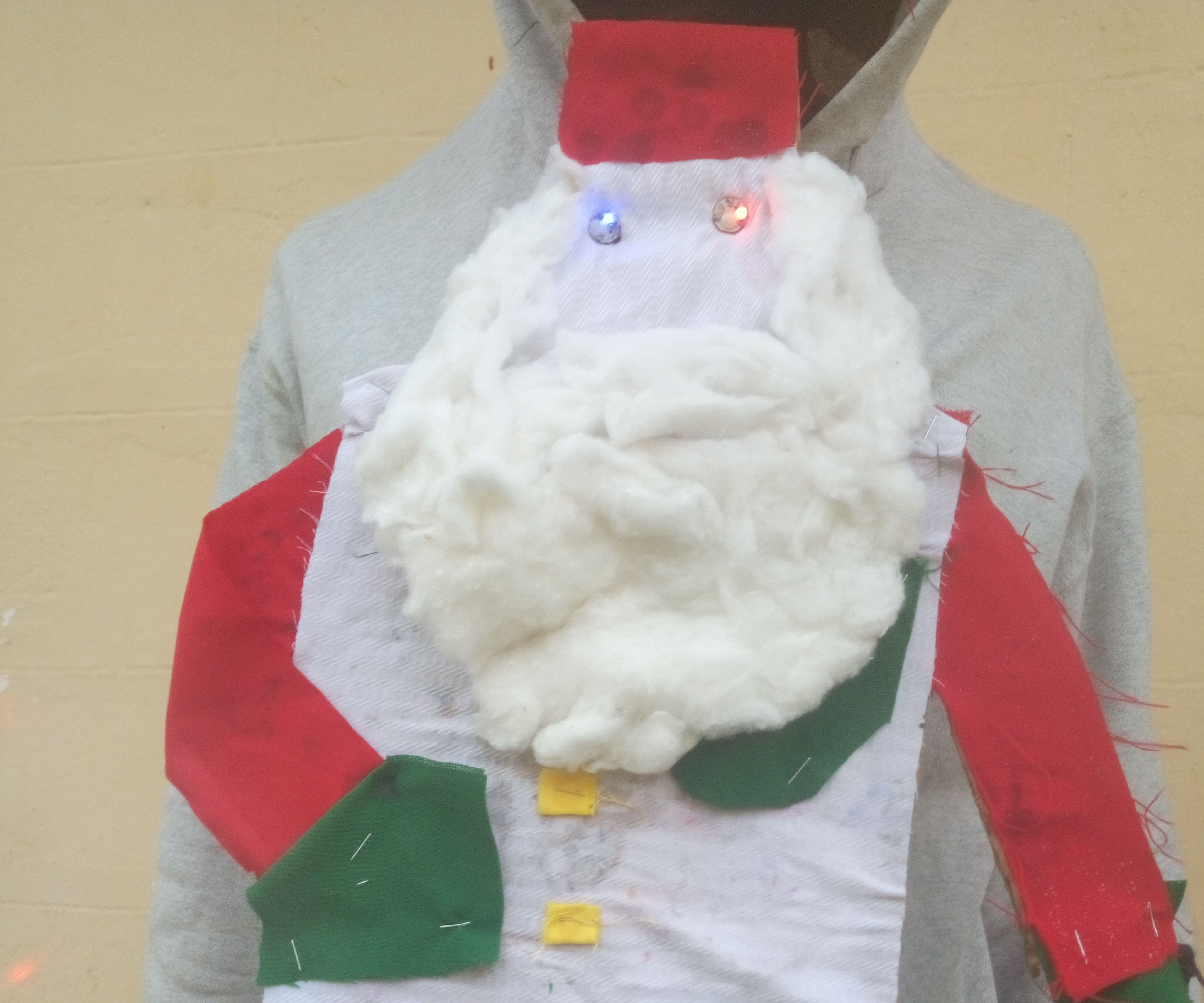 Santa's Inverted Outfit Ugly Sweater