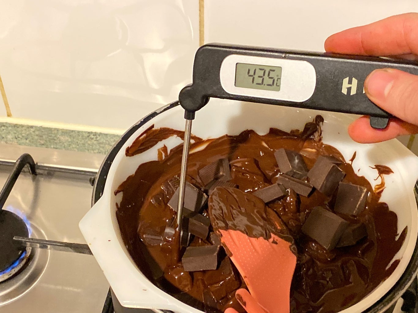 Melting and Tempering the Chocolate