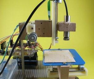 Arduino 3-axis Mini Lazer Paper-Cutter