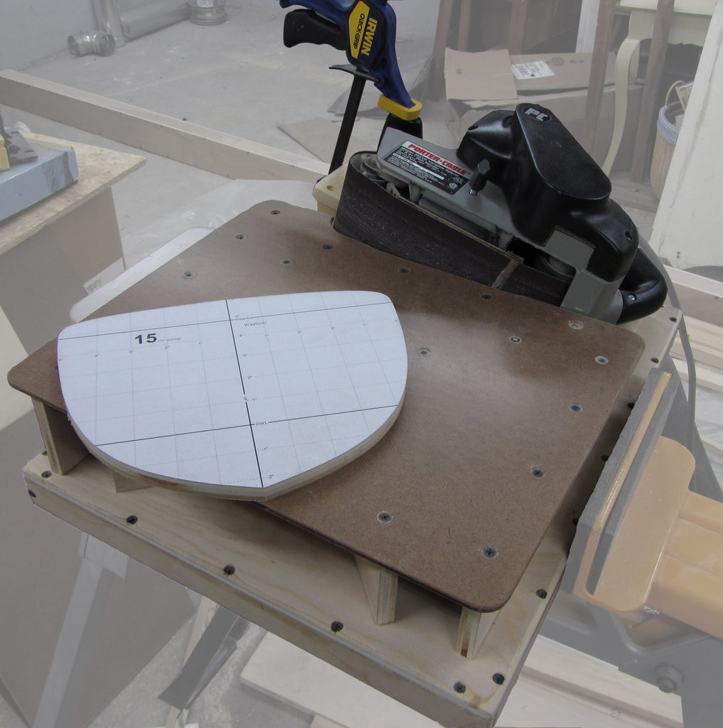 Belt Sander Stand Table for Edge-Sanding