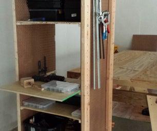 Workshop Mobile Storage Unit With Adjustable Shelving
