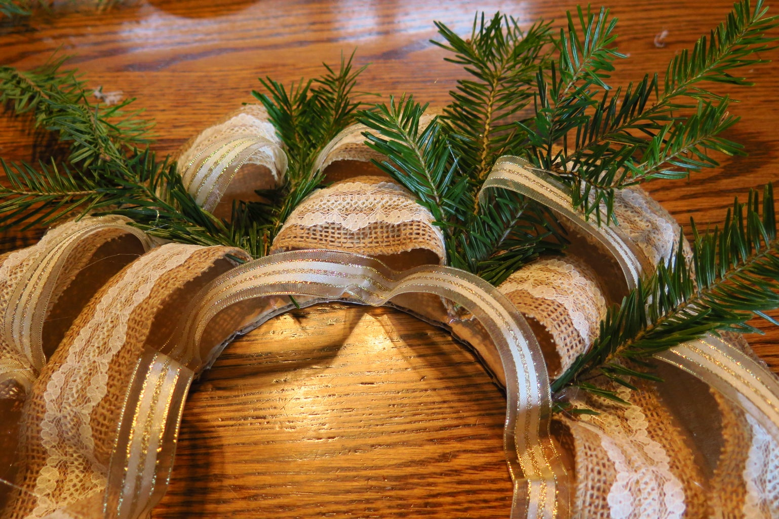 Add the Pine Branches