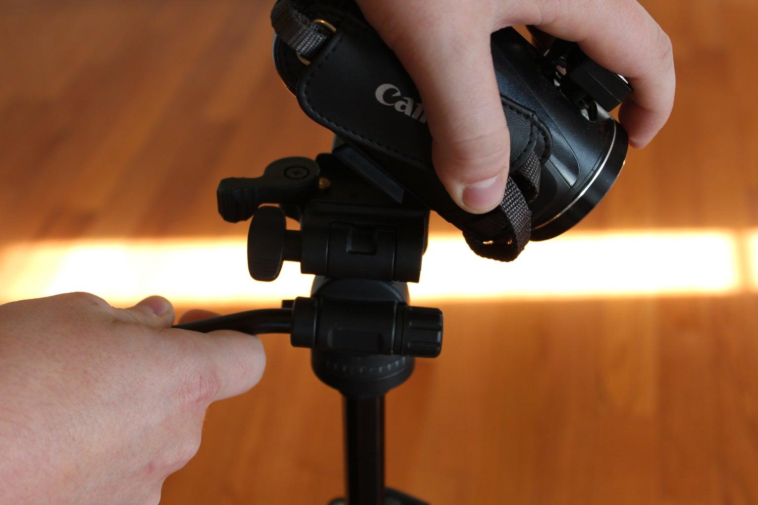 Attach Camera to Tripod