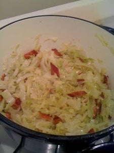 Braised Cabbage, Onions and Bacon (PALEO)