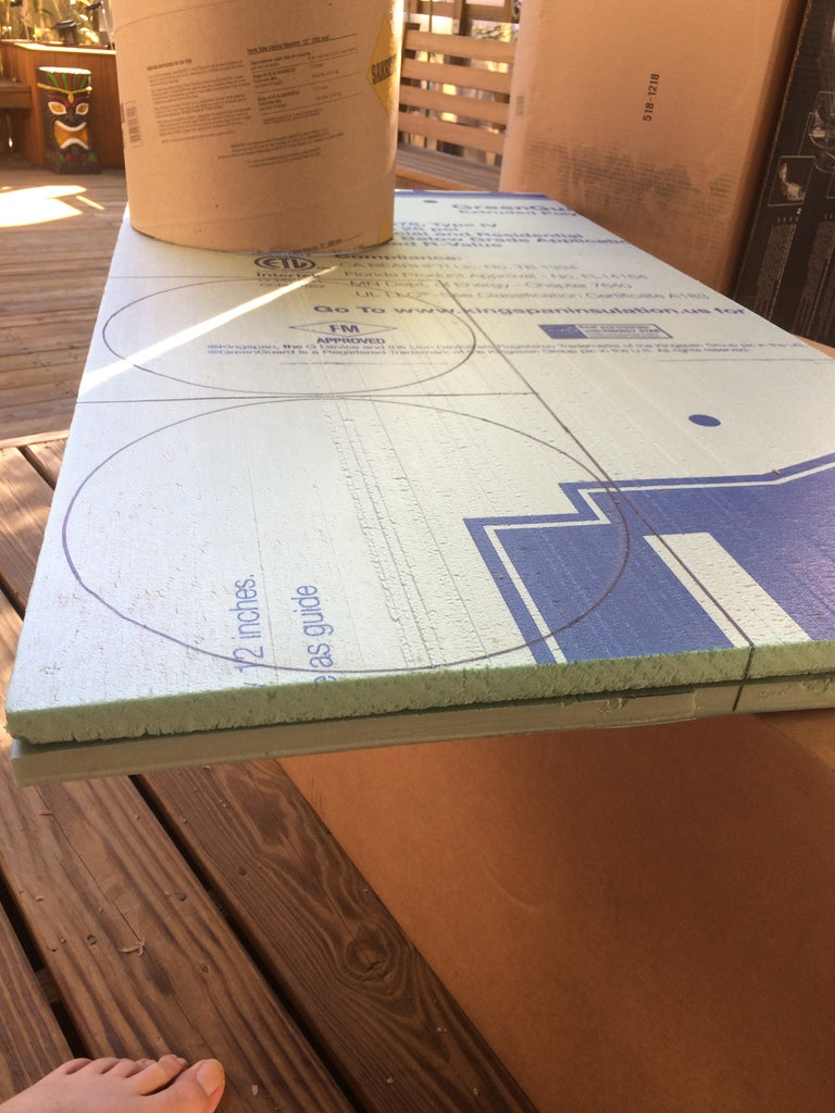 Cut the Insulation Board in Half and Stack the 2 Halves