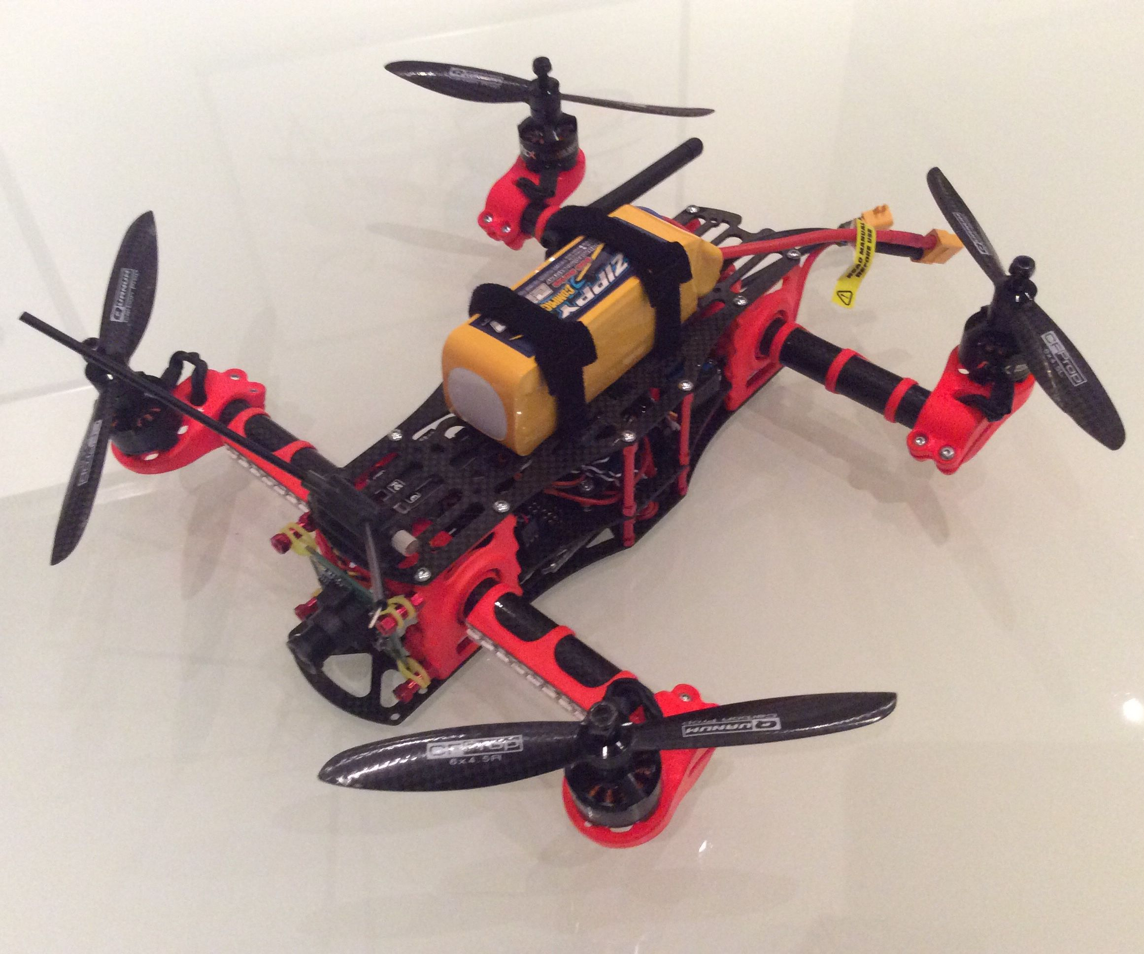 Drone with dynamic tilt arms
