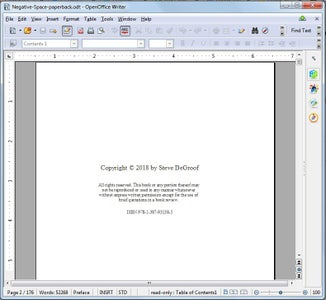 Finish Your Paperback Document