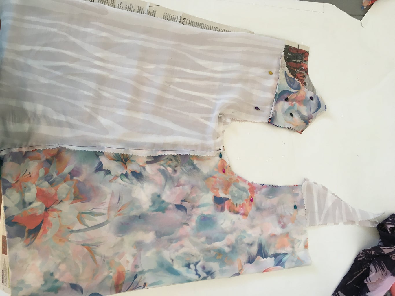 Silky Top Pattern With Upcycled Fabric