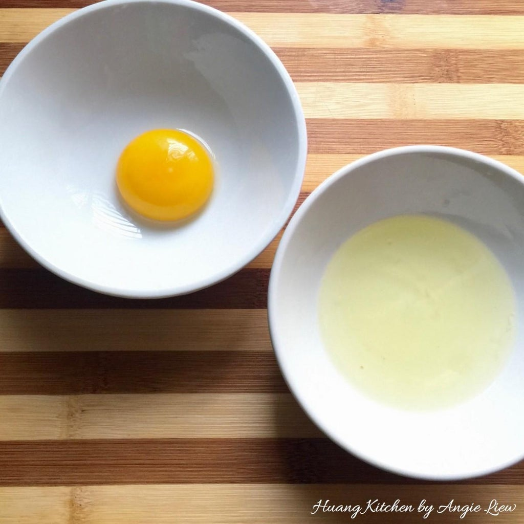 Separate One Egg Into Yolk and White.