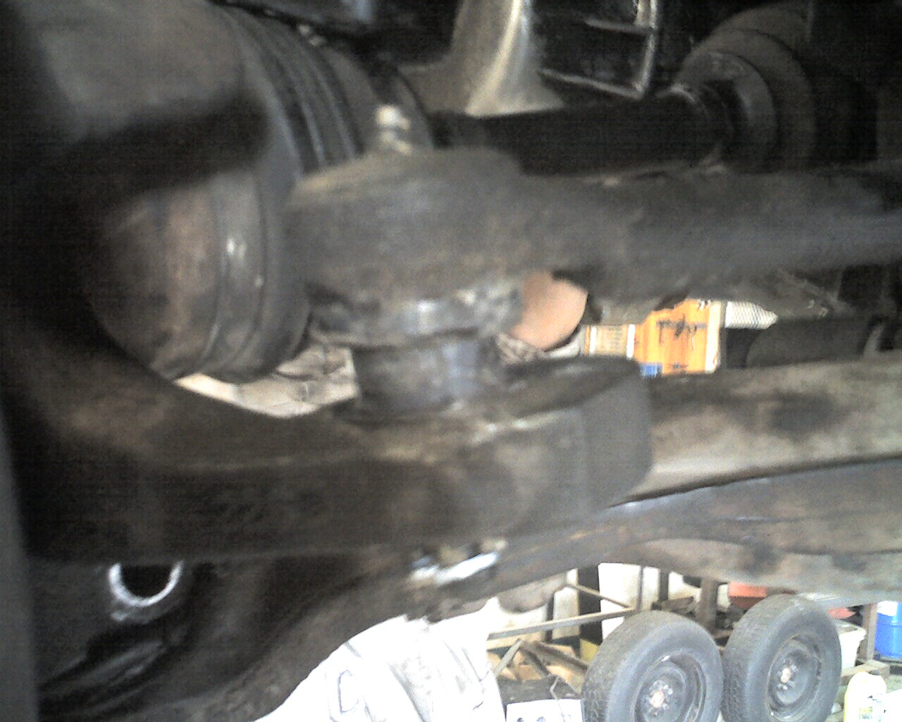 Poor man's tie rod end (or ball joint) boot