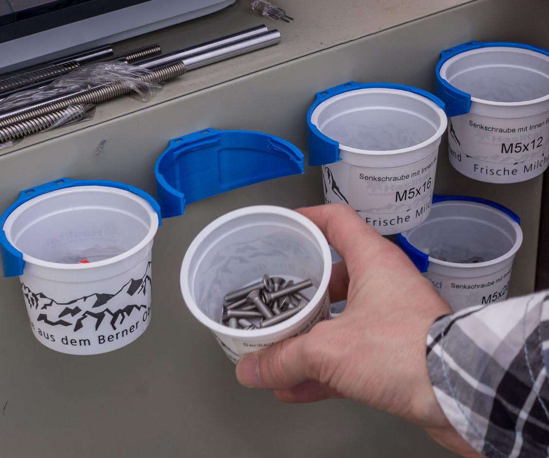 Recycled Yogurt Cup Screw Storage