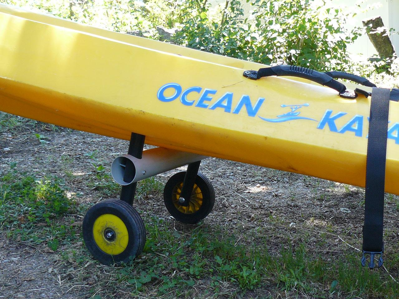 Simple foldable kayak trolley in 20 minutes