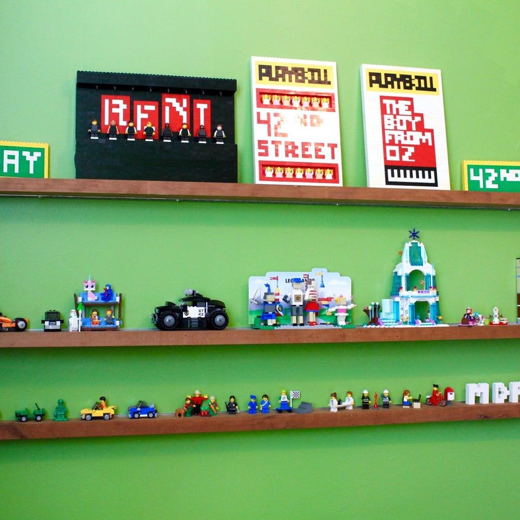Floating Shelf for Lego
