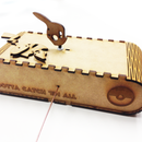 Pikachu Cam Mechanism Automata with Lattice Hinge Box