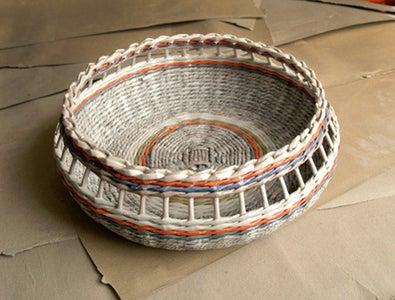More Newspaper Basket Weaving Ideas