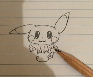 How to Draw Chibi Sonic and Pikachu