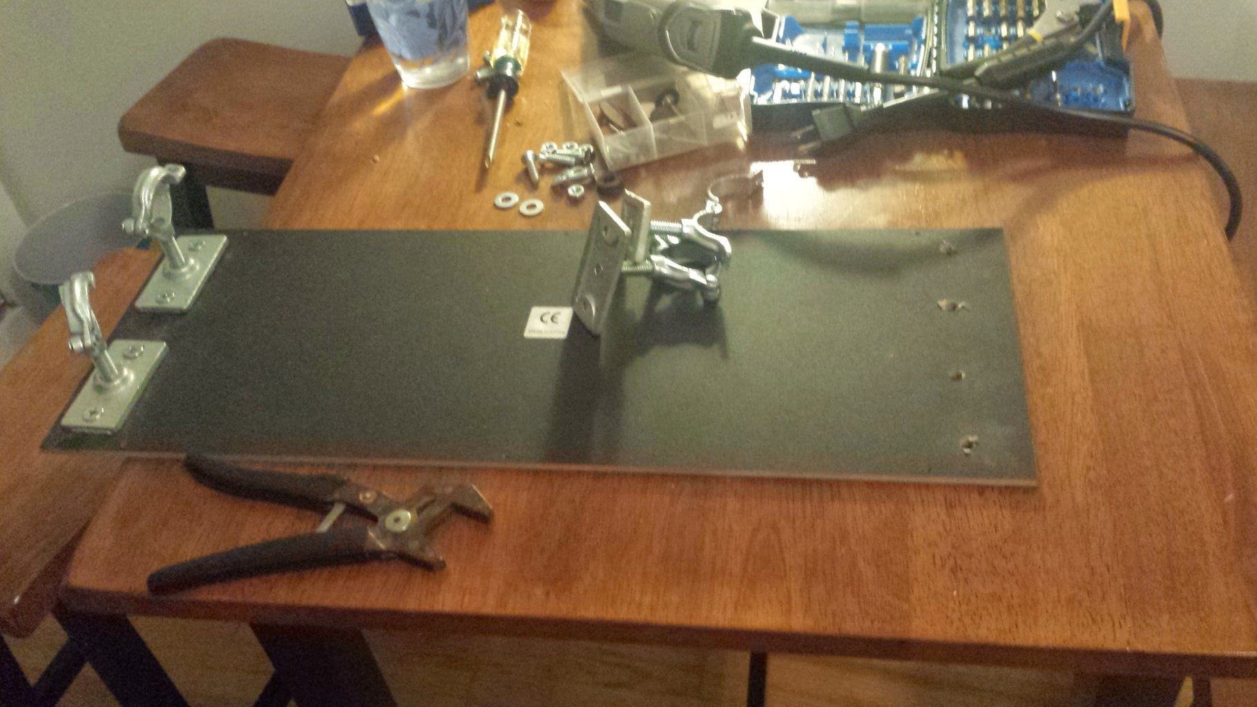 Step 3: Attach Ceiling Flange to Controller Bottom
