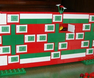 Super Easy Advent Calendar Made Out of Legos