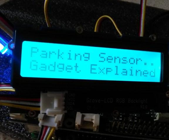 GrovePi+- Parking Sensor for Robot Car