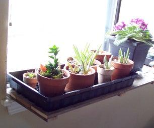 Pallet Wood Window Sill Plant Shelf
