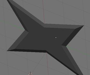 Making a 3D Model of a Shuriken in Blender