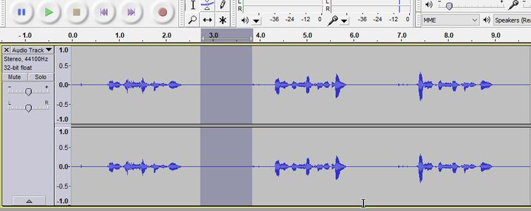 Deleting Silence/Unwanted Audio, Splitting Tracks
