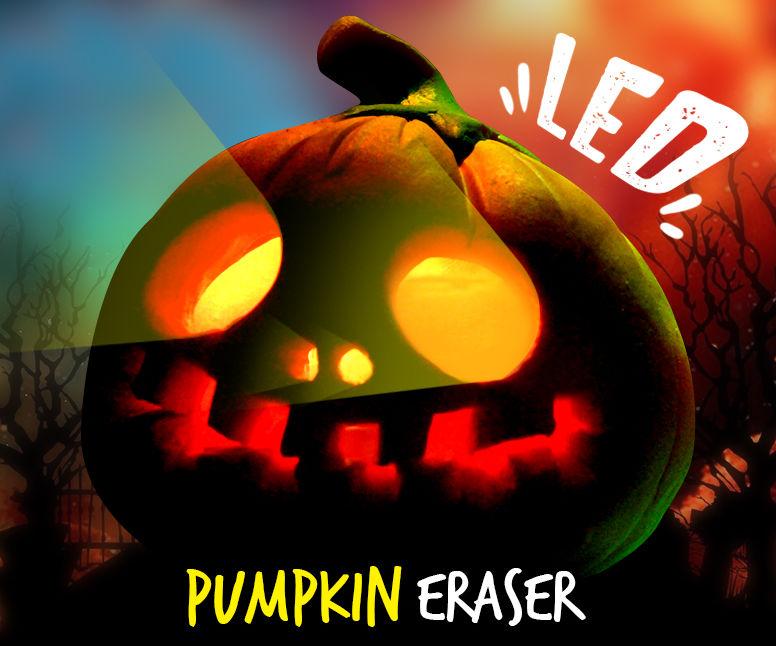 How to Make Halloween Pumpkin Eraser !! LED Eraser