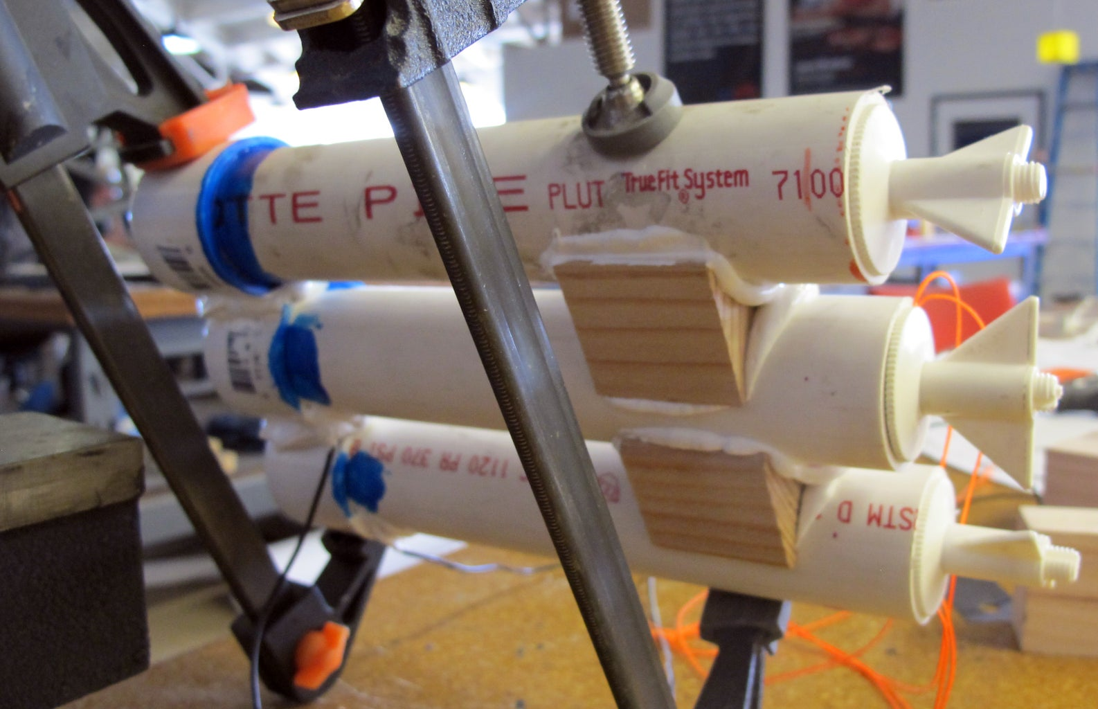 Glue Your Pipes Flush Together and Caulk the Holes