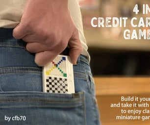4 in 1 CREDIT CARD GAMES