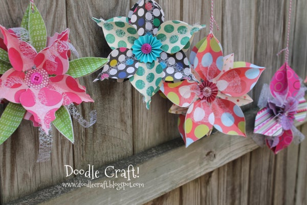 3D Ornament Snowflake Bunting!