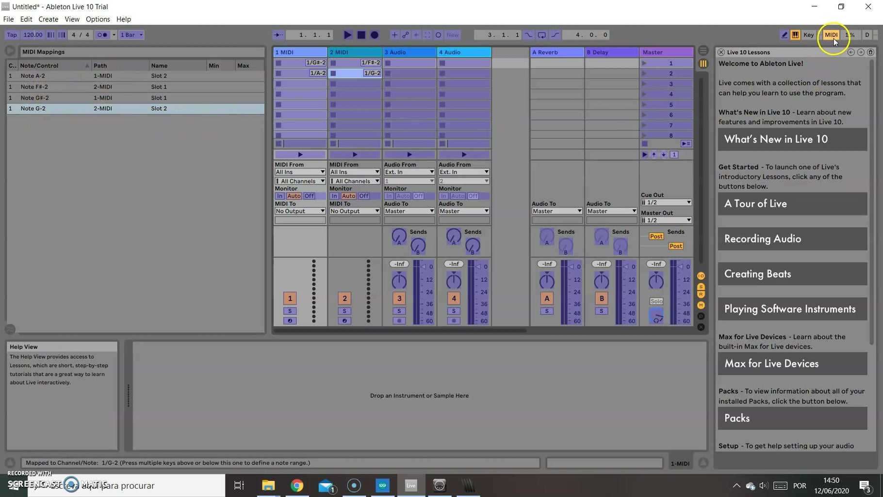 Mapping the MIDI Controller