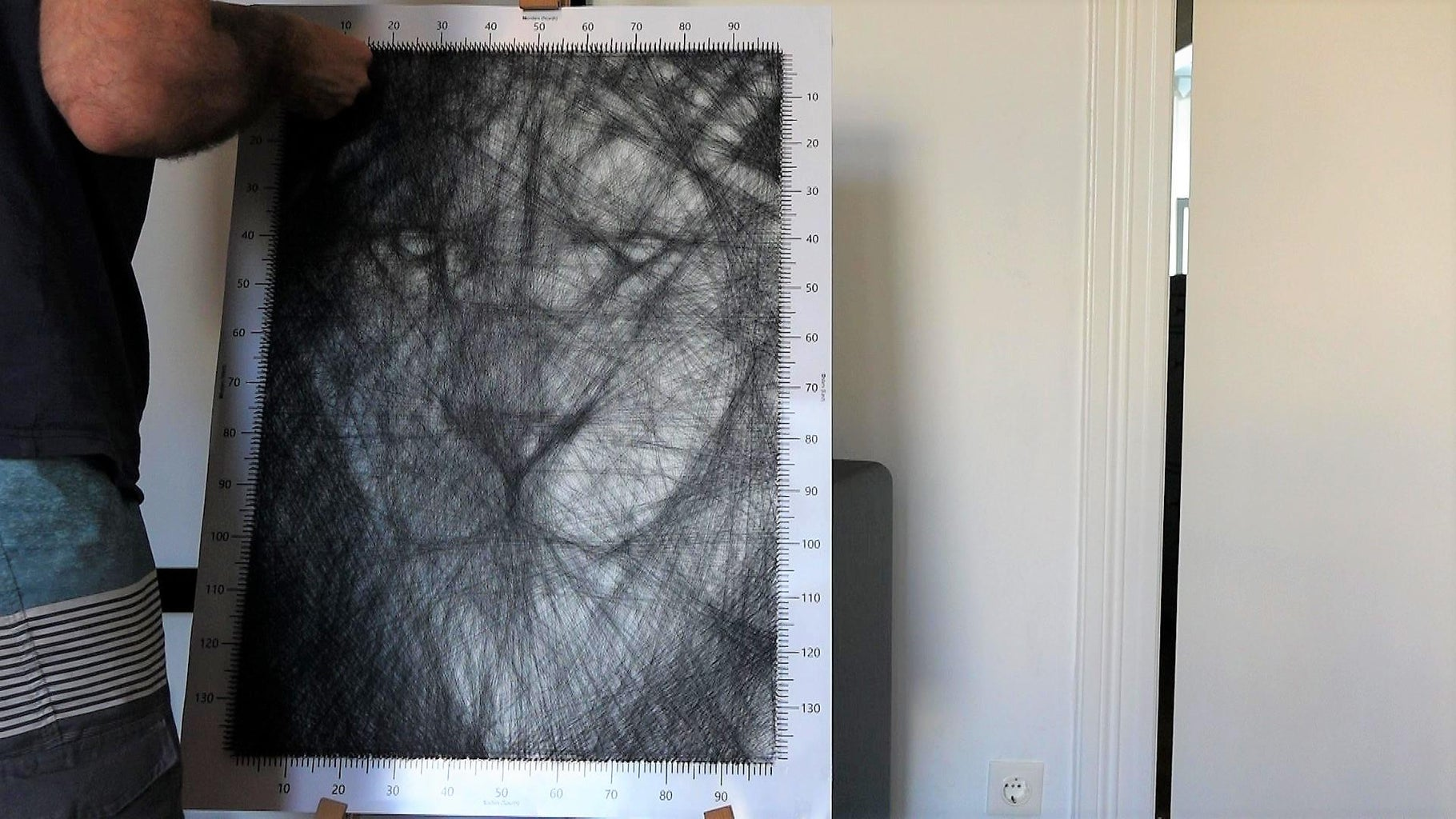 DIY String Art - the Lion