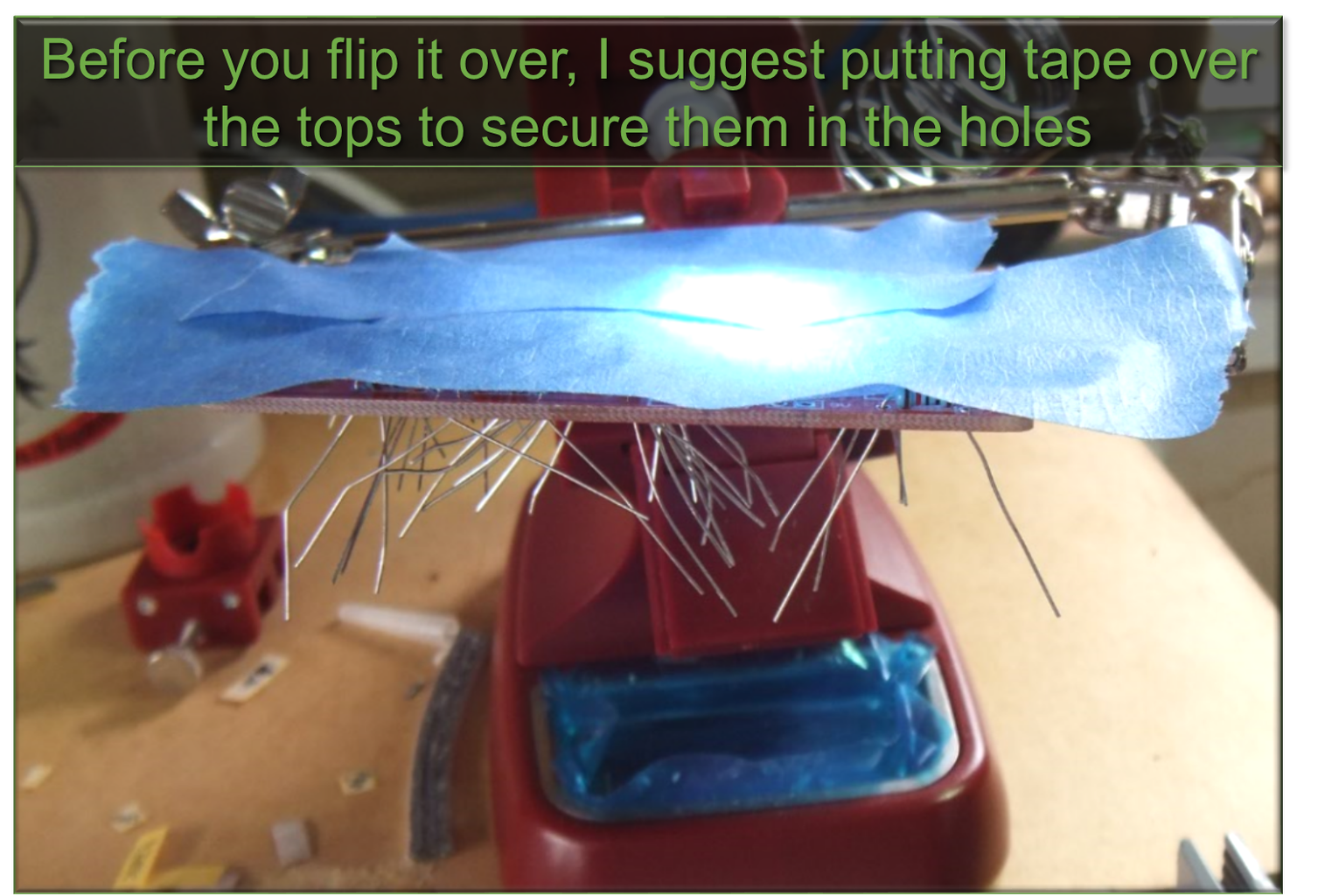 2.4 Before Flipping Over, Tape the Tops!