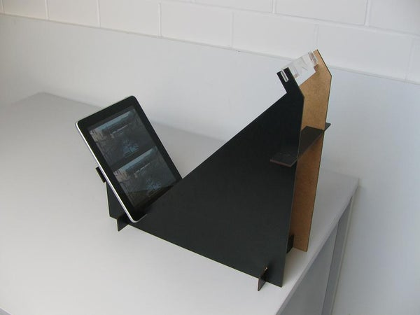 Full Color 3-D Viewing Stand for IPad (watch Bluray3D Content Outdoor)