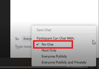 Disable Chat