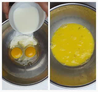 Combine Eggs and Milk
