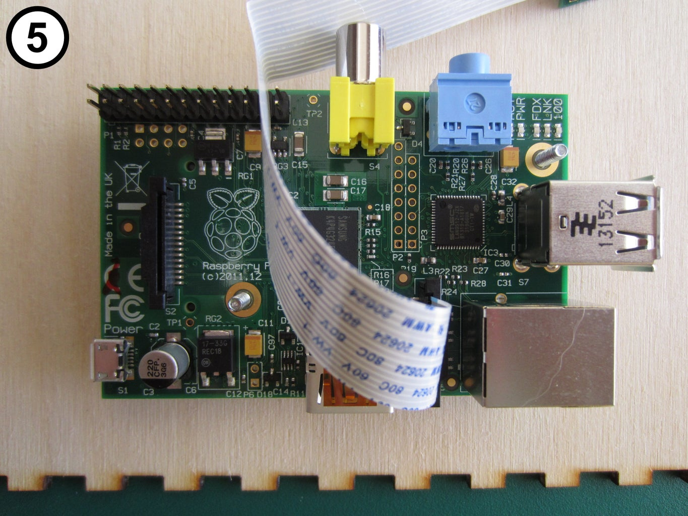 Mount the Raspberry Pi on the Front Panel