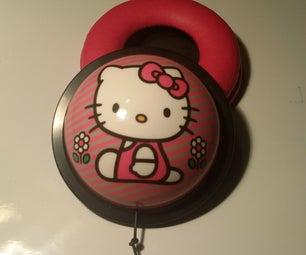 Repairing Broken Hello Kitty Headphones