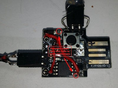 Disconnecting the USB D- Pullup Resistor (marked 152) From 5 Volt (VCC) and Connect It to USB V+