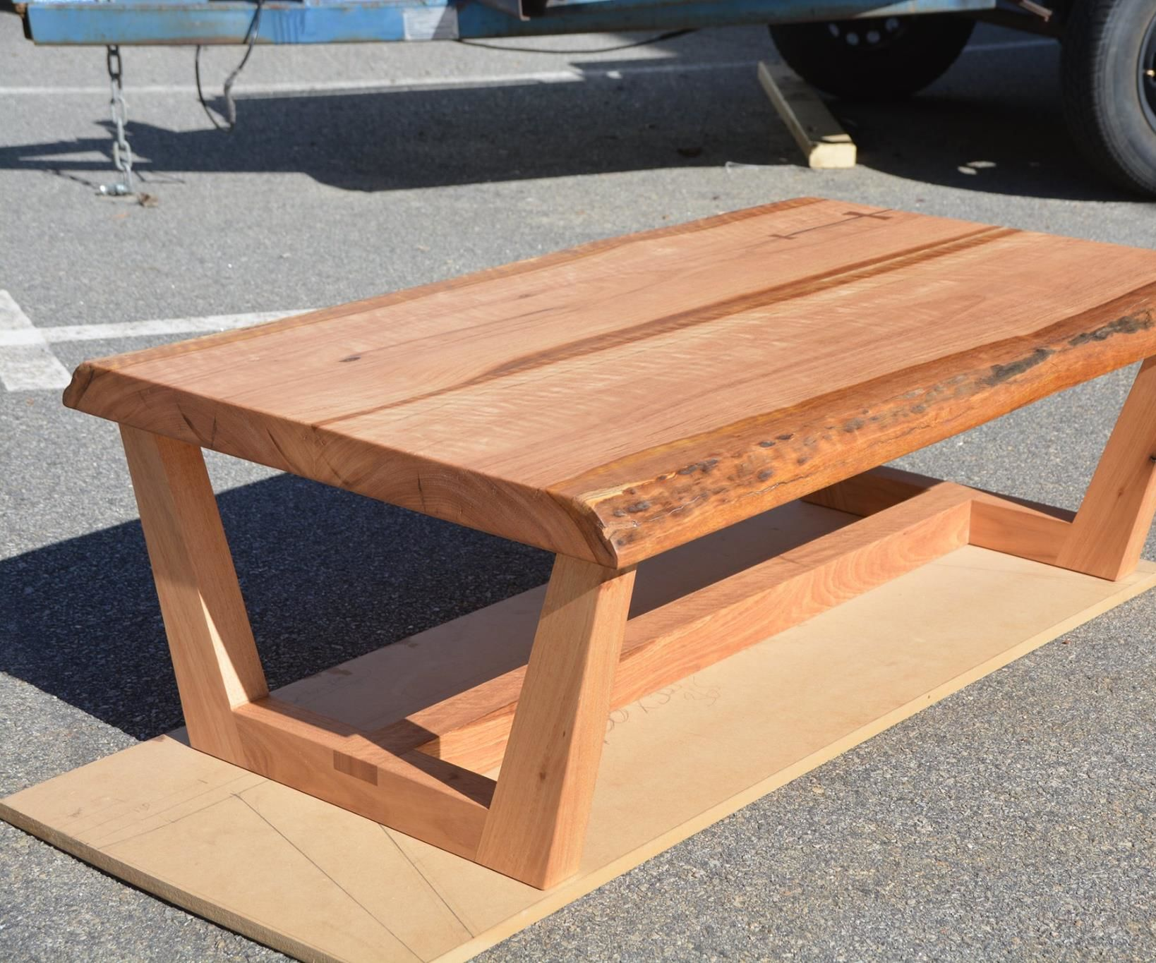 Live Edge Coffee Table - Modern