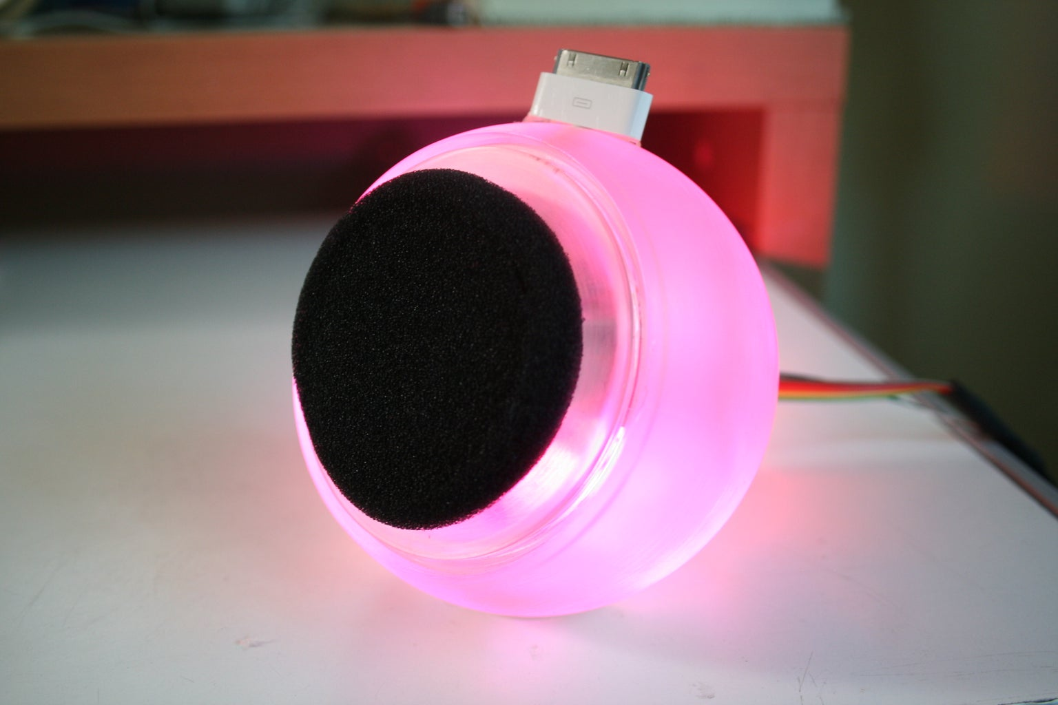 RGB Flashing IPod Dock From an Old Speaker!