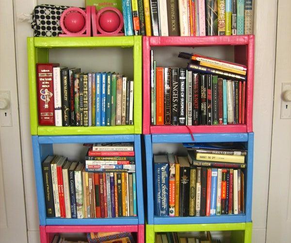 A Bookshelf Made of Encyclopedias! YAY!